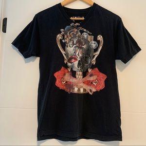 Volcom | Black Graphic V-Neck Tee Shirt